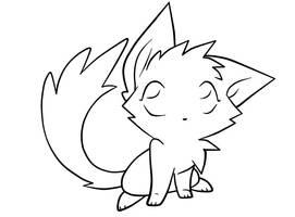 Cute kitty lineart 2 by RazinOats