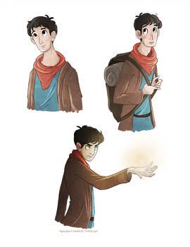 Merlin doodles