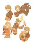 How to Train Your Dragon doodles