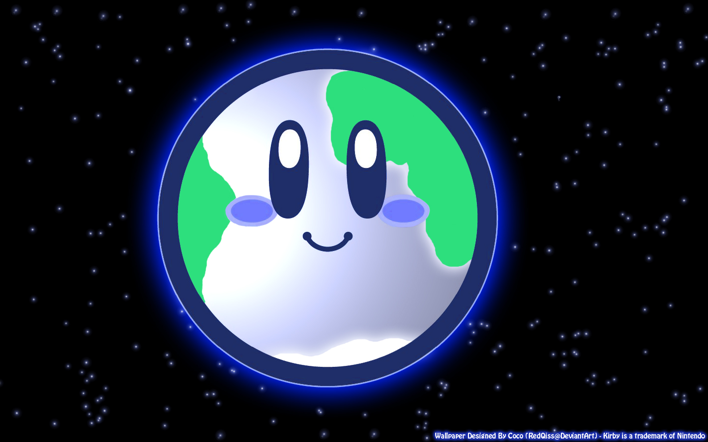 Planet Earth Kirby Wallpaper By RedQiss