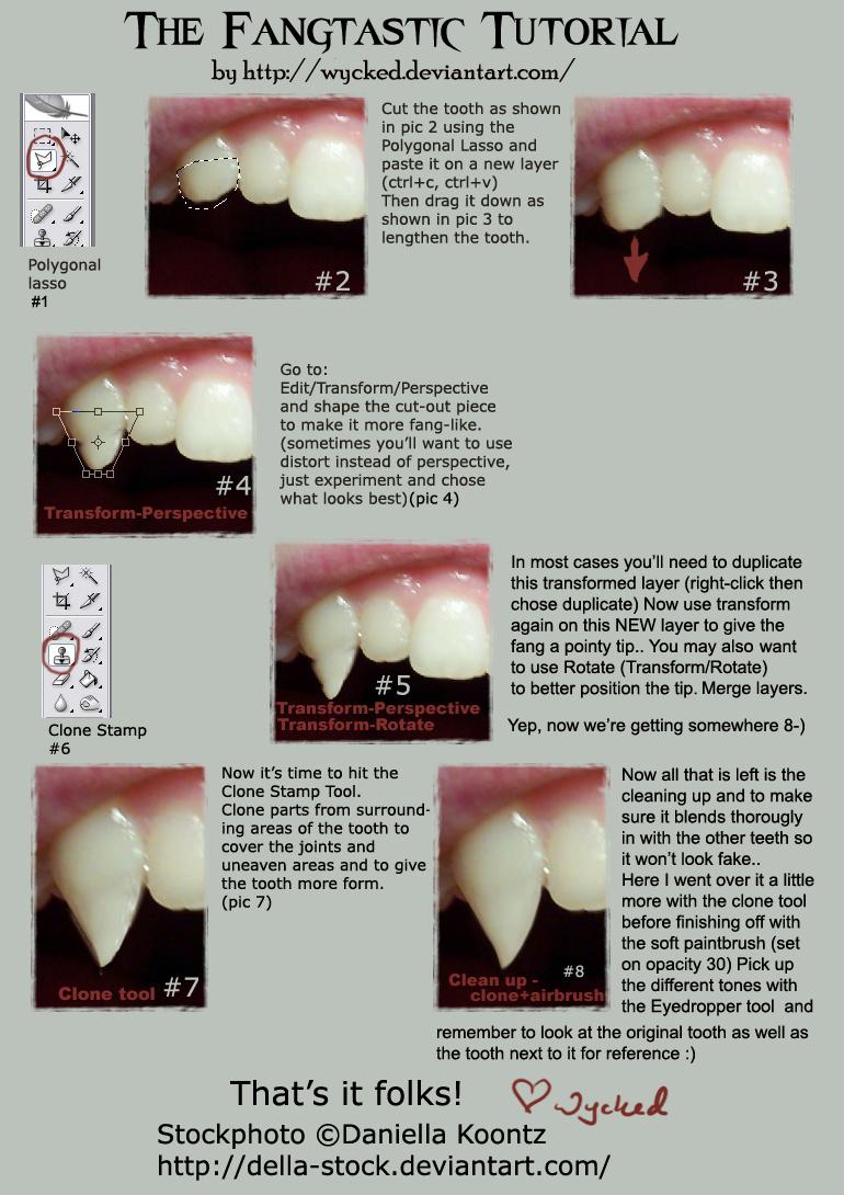 Как сделать себе клыки 834