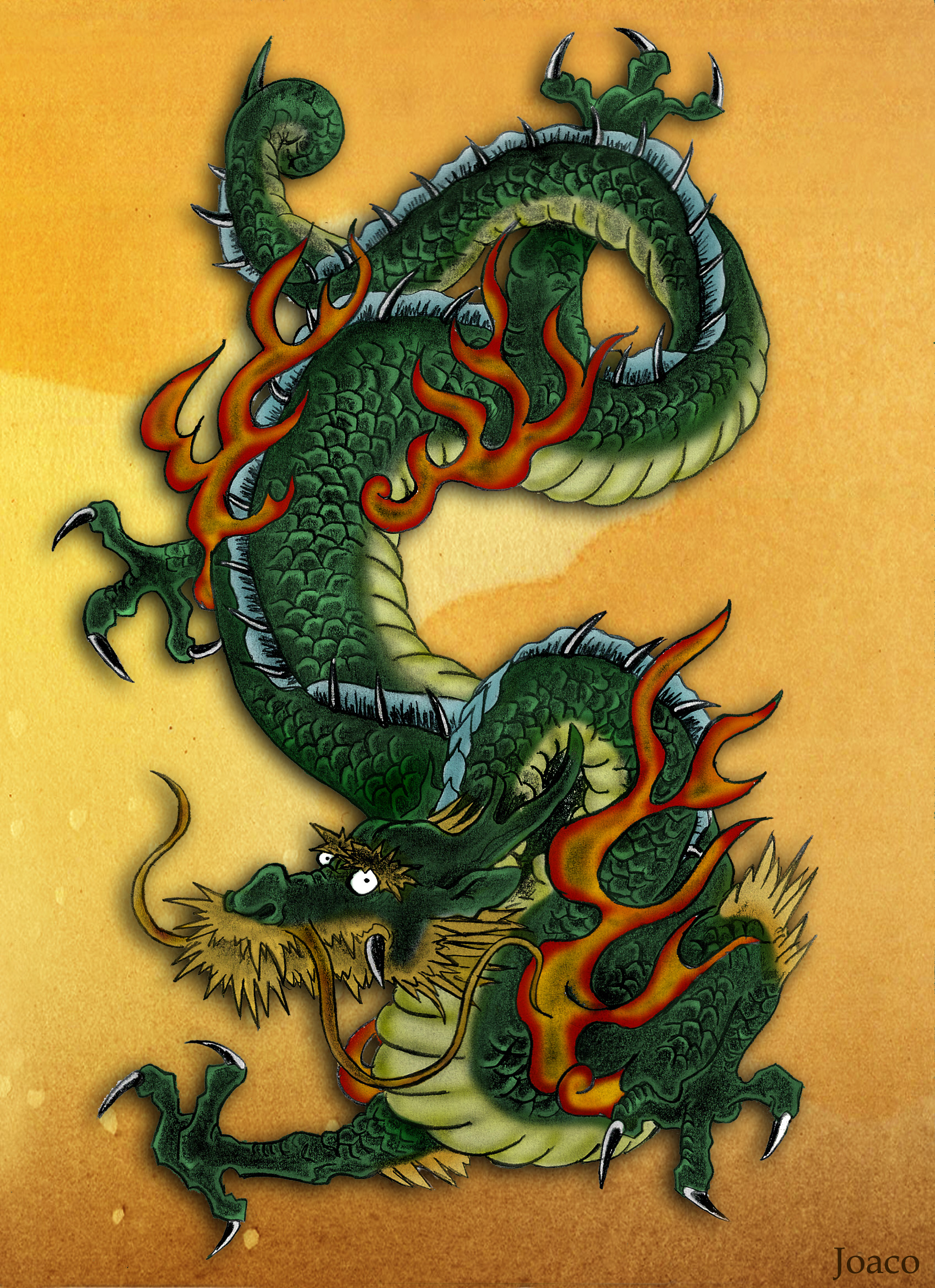 Dragon japanese by coji 13 on deviantart for Japanese dragon painting