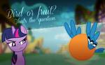 Bird or fruit?
