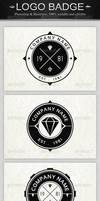 6 Vintage Logo Badges