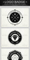 6 Vintage Logo Badges by superpencil88