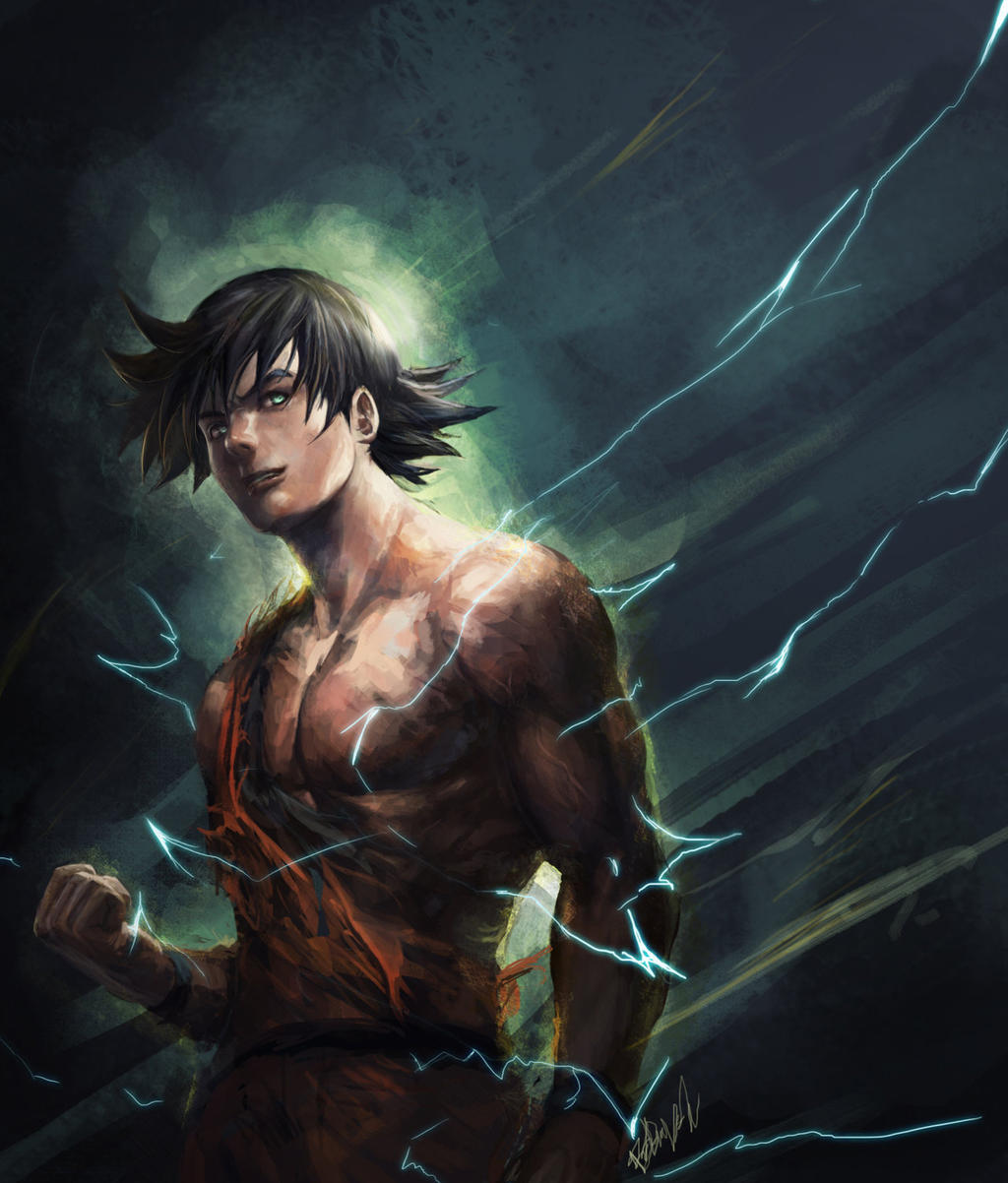 -Goku- by R-SRaven on DeviantArt