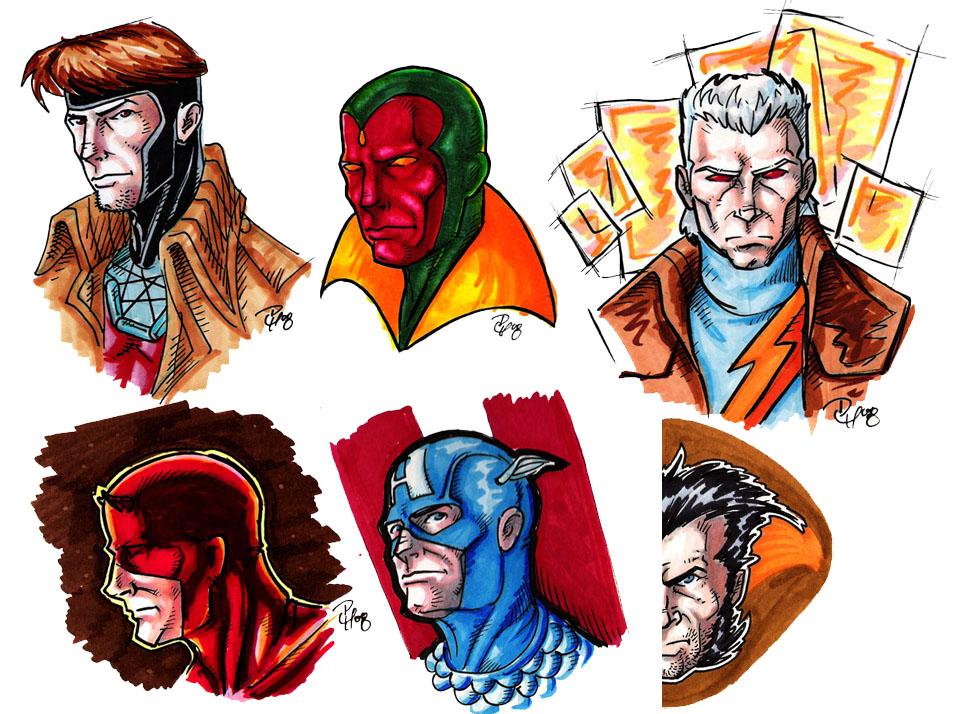 Marvels - Marker Sketches by Tensen01