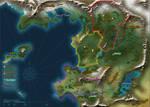 Unnamed Fantasy World Map