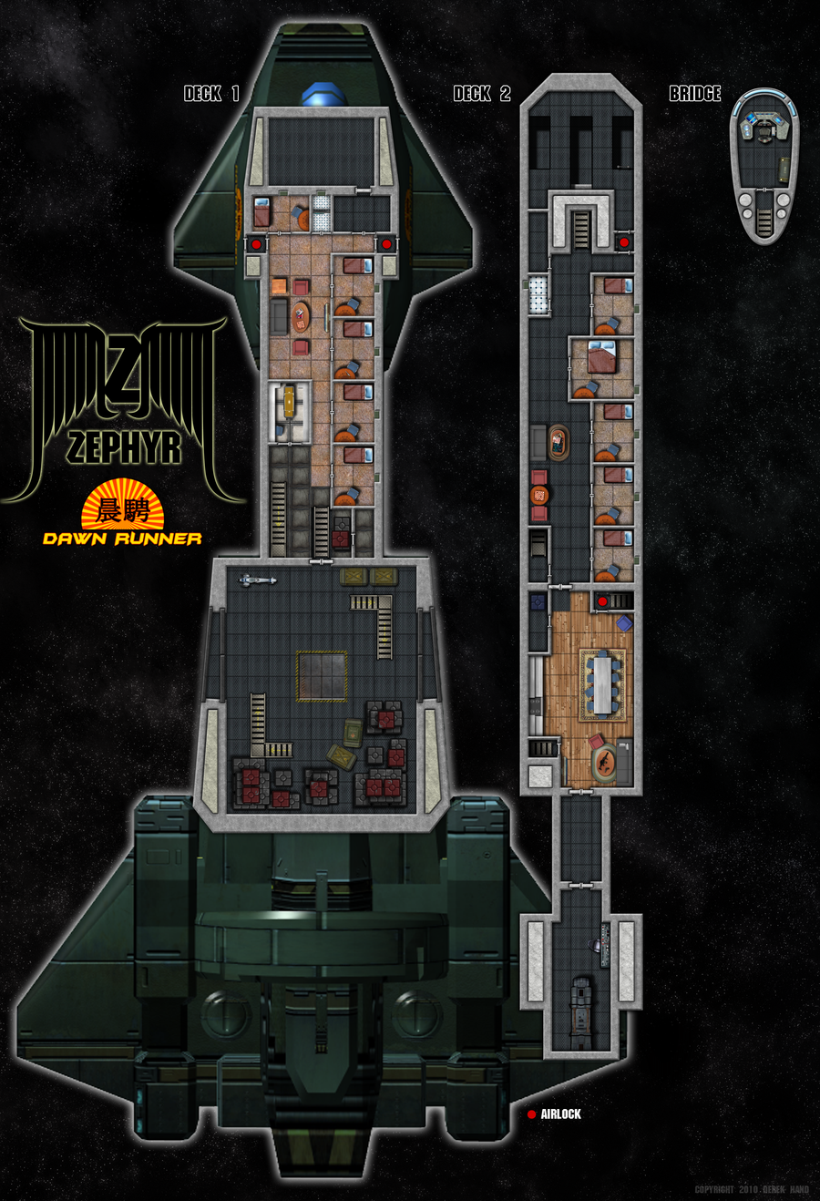 Zephyr Class Deck Plans by Tensen01