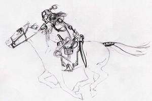 Daerun, Nomadic Warrior by Tensen01