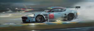 Aston Martin DBR9 - Painting