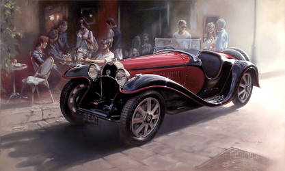 Bugatti Type 55 by donpackwood