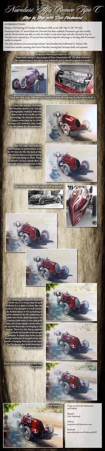 Tutorial in Oils: Alfa Romeo Tipo C