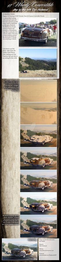 Tutorial in Oils - 47 Woody Convertible