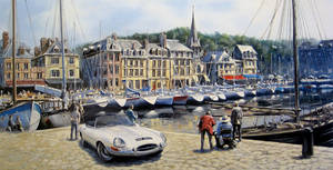 E Type at Honfleur by donpackwood