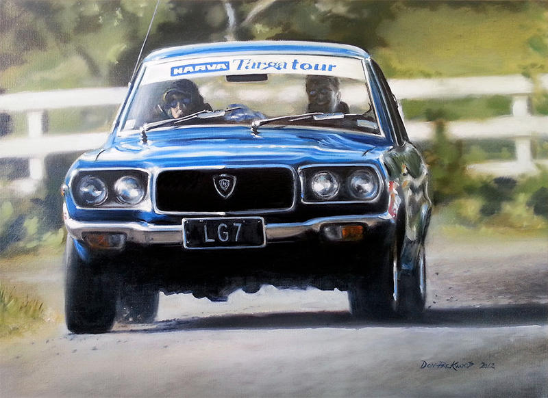 1971 Mazda RX3 - Painting by donpackwood