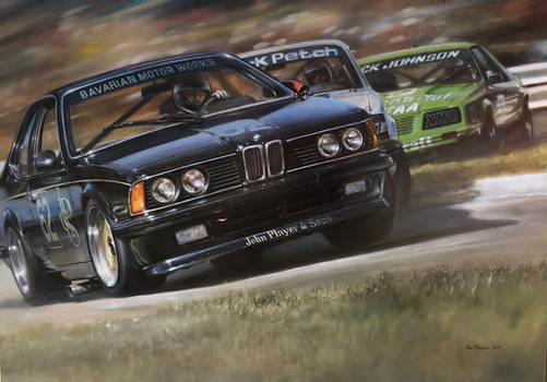 Painting - BMW 635 CSi