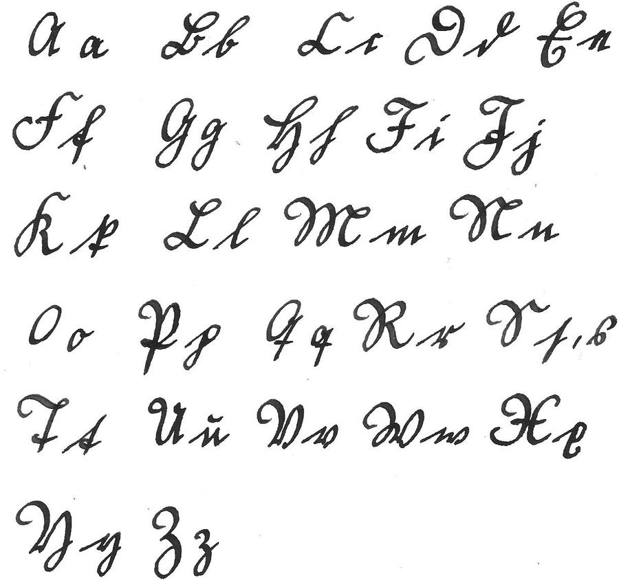Russian: Printed or Cursive?