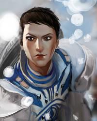 WIP fan art  Dragon Age Cassandra Pentaghast by Jineda1802