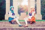 Sailor Venus and Neptune