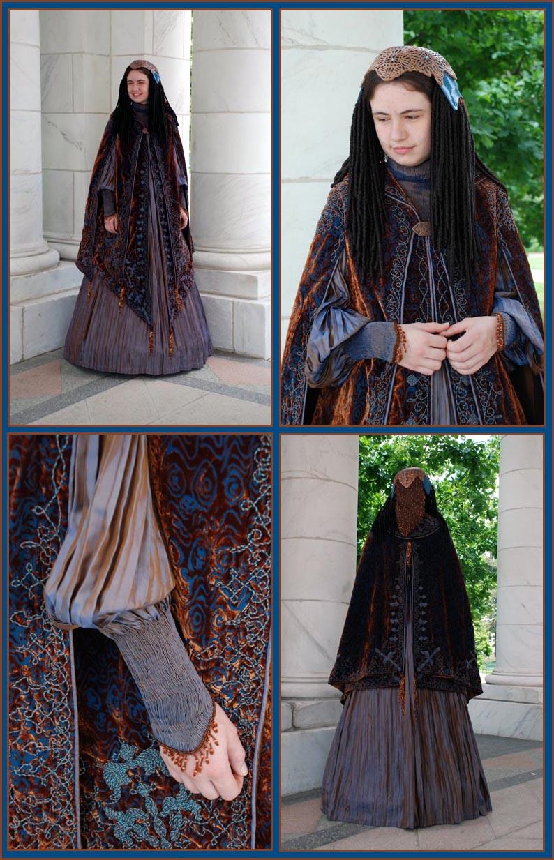 Amidala's Peacock Dress by Naboo-Girl