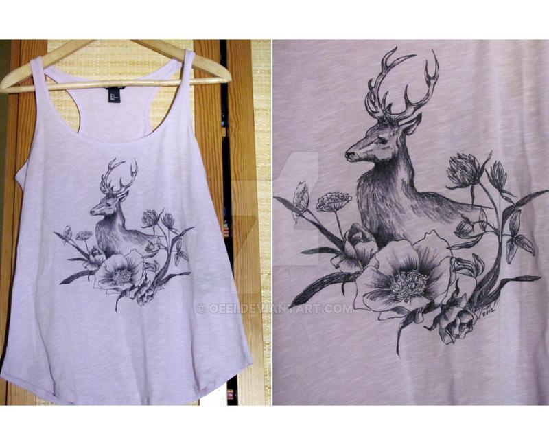 Flowers for my Deer. by Oeei