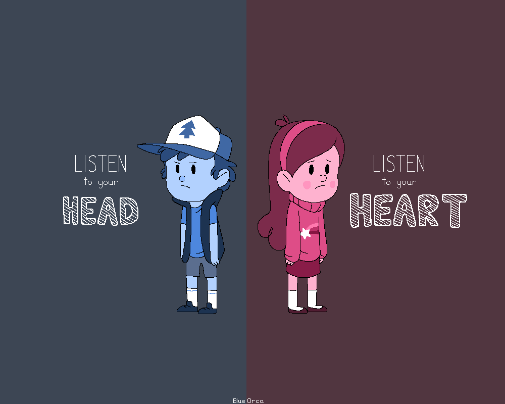 Listen To Your Head Or Listen To Your Heart By BlueOrca2000 ...