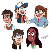 Children in Glasses by BlueOrca2000