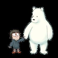 Chloe and Ice Bear by BlueOrca2000