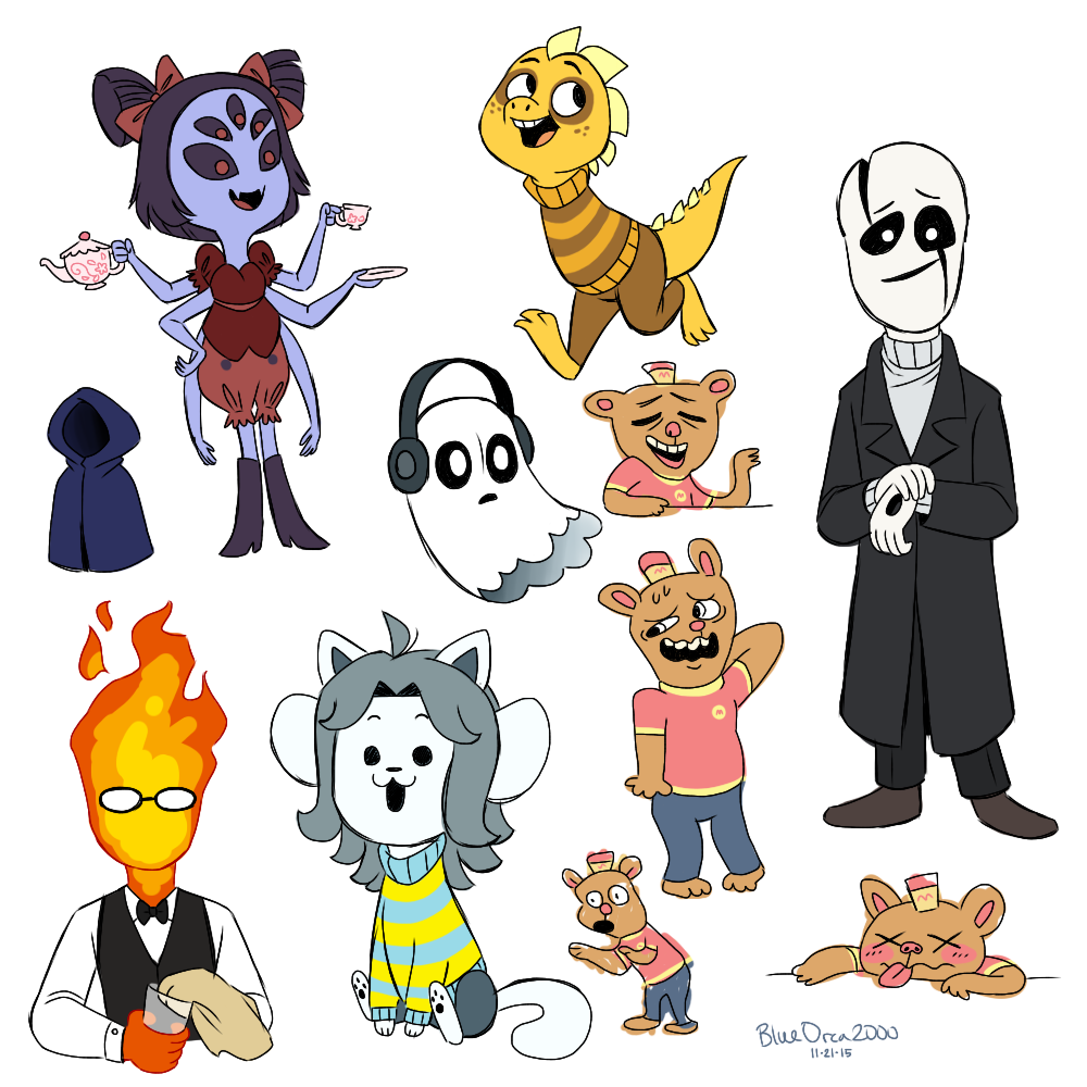 Undertale Characters By BlueOrca2000 On DeviantArt