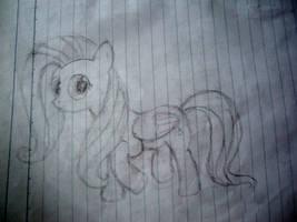 Fluttershy Sketch by daniel10alien