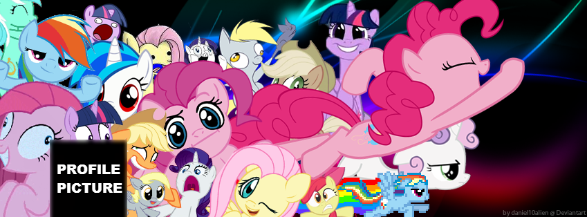 Ponies! Cover Photo for Facebook by daniel10alien