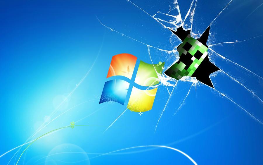 Creeper Broken Screen: Creeper Broken Desktop Wallpaper By Daniel10alien On