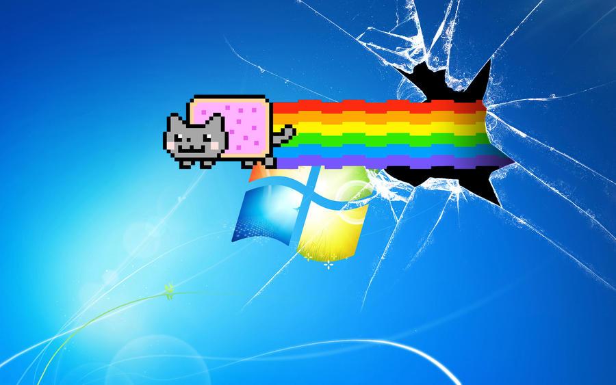 Nyan Cat Broken Desktop Wallpaper By Daniel10alien