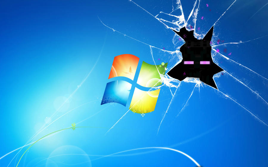 Enderman Broken Desktop Wallpaper by daniel10alien