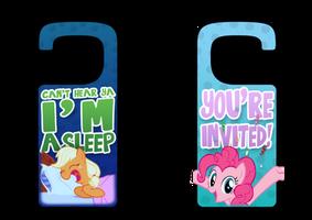 My Little Pony Printable Door Hangers by daniel10alien