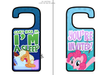 My Little Pony Printable Door Hangers