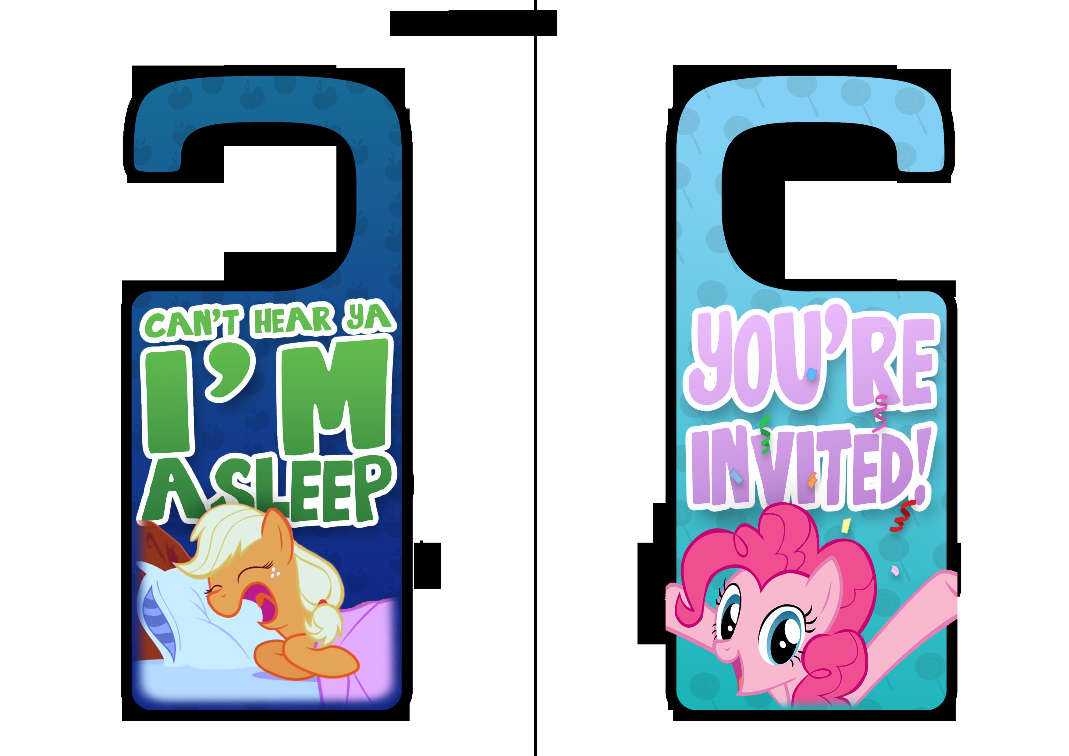 My Little Pony Printable Door Hangers by daniel10alien on DeviantArt