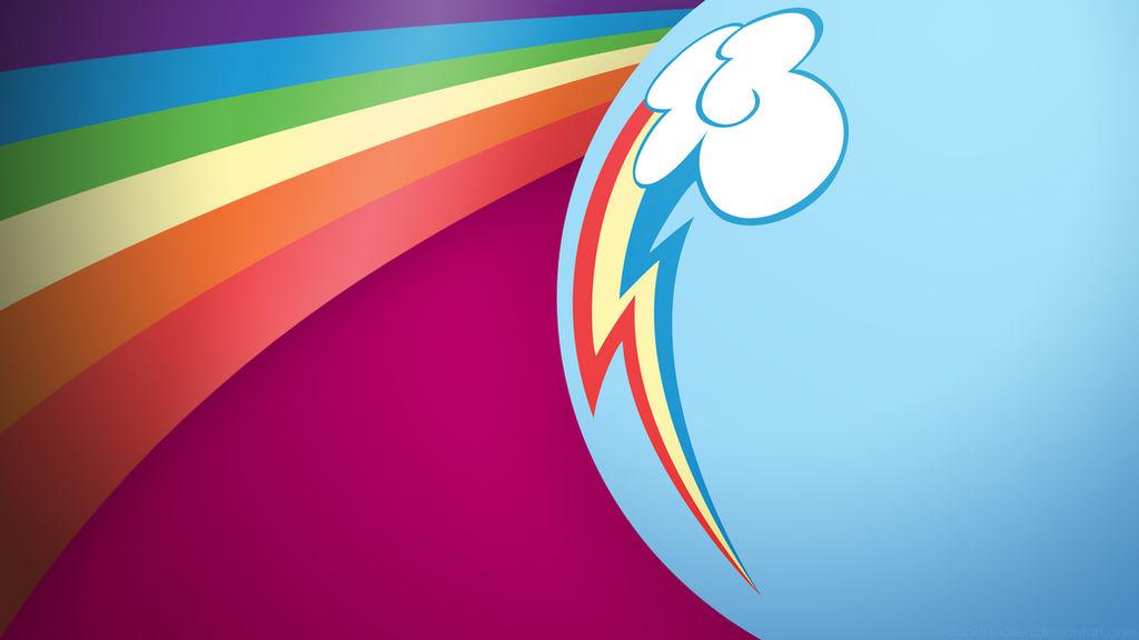 My Little Pony Wallpaper - Rainbow Butt by daniel10alien