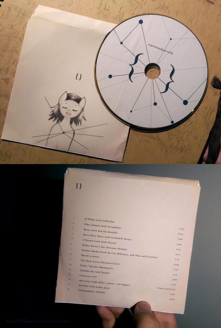 { } - sogreatandpowerful CD + sleeve by daniel10alien