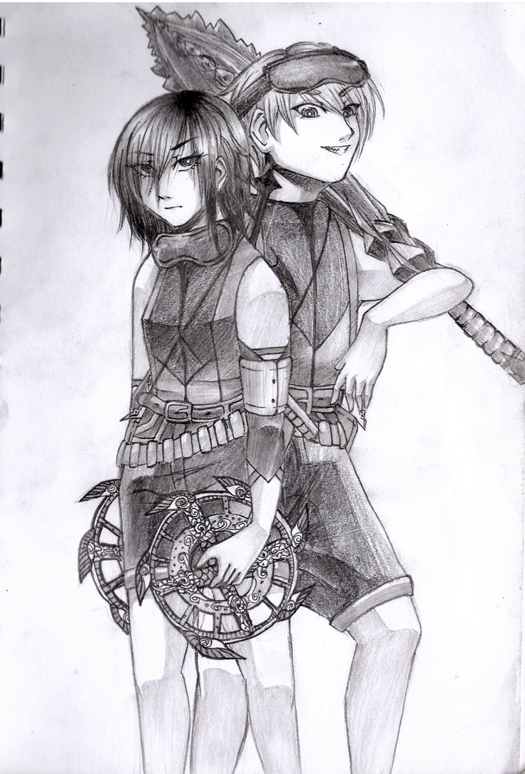 Gunslinger Duo by midori555