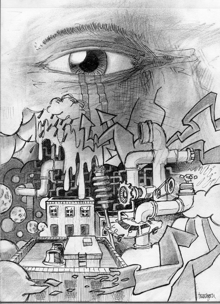 Abstract Drawing Of A City By Ilyagalayda On Deviantart