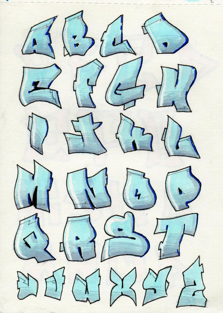 Graffiti Bubble Letters Alphabet A Z Design Traffic Club
