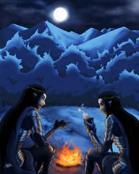 Elladan and Elrohir by THAISHI