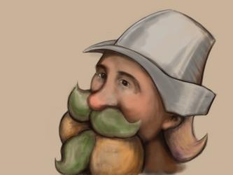 Durgin Dwarf Troubadour by MarkFrankly