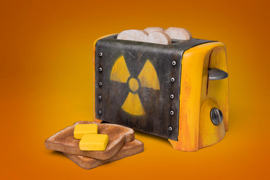 Atomic Powered Toaster By Meandmunch On Deviantart