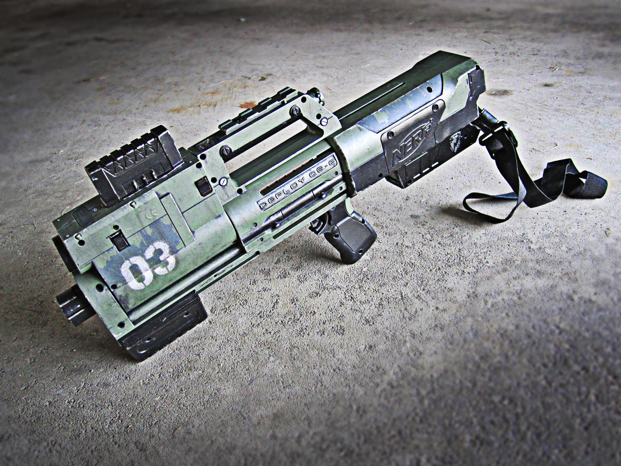 Nerf Deploy Pulse Rifle Mod by meandmunch