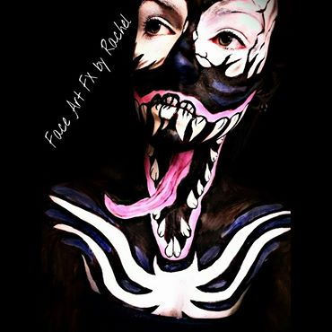 Spiderman Venom Inspired Body Art Makeup By Paintedpassion99 On Deviantart