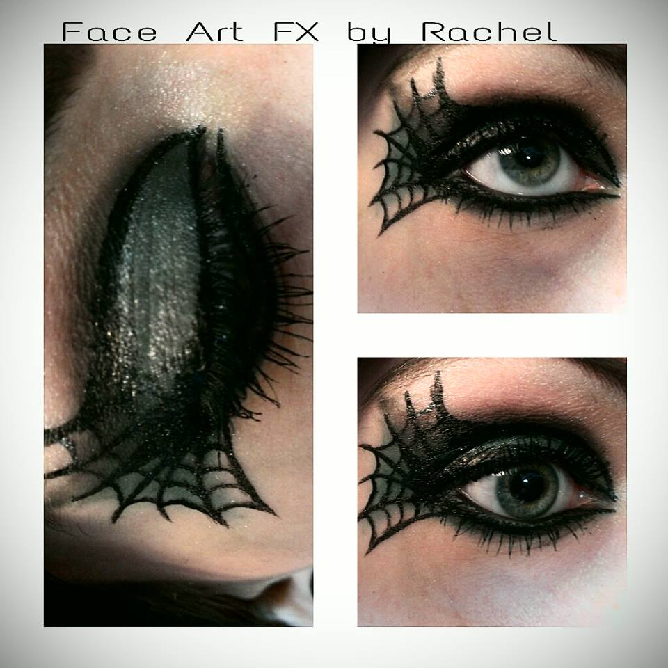 Green and Black Spider Web Beauty Eye Makeup by PaintedPassion99 ...