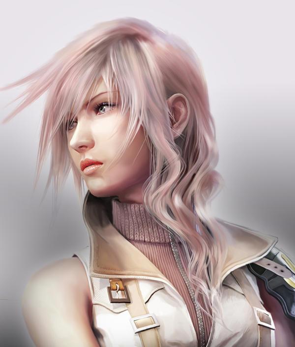 Lightning Portrait Painting by Hana-Sakura